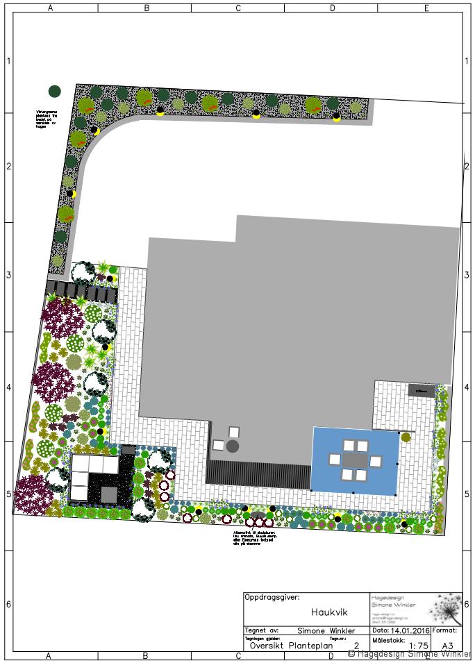 Hageplan til kunde i Bø