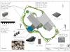Hageplan med materialvalg oversikt i Porsgrunn